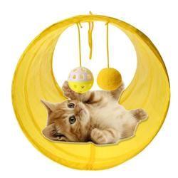 مضحك الحيوانات الأليفة لعبة نفق للقطة 2 ثقوب القط اللعب أنابيب كرات لطي التجعيد هريرة الكلب لعب جرو النموس أرنب اللعب لعبة نفق للقطة أنابيب