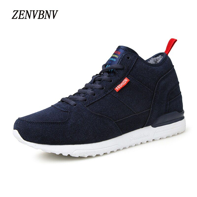ZENVBNV 2017 Invierno Hombres Zapatos de Marca Zapatos de Los Hombres Ocasionales de la Felpa Caliente Rebaño Cómodo Calzado Casual Hombres Zapatos Planos de Masaje