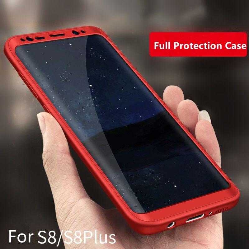 Nouveau Hybride Ultra mince Téléphone Capa Cas Pour Coque Samsung Galaxy S6 S7 Bord S8 Plus J5 Téléphone Cas avec Protecteur D'écran