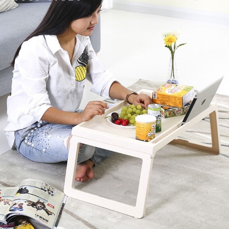 Computer Desk Multifunction foldable Computer Desk plastic bed lazy table computer desk bed learning table dining table