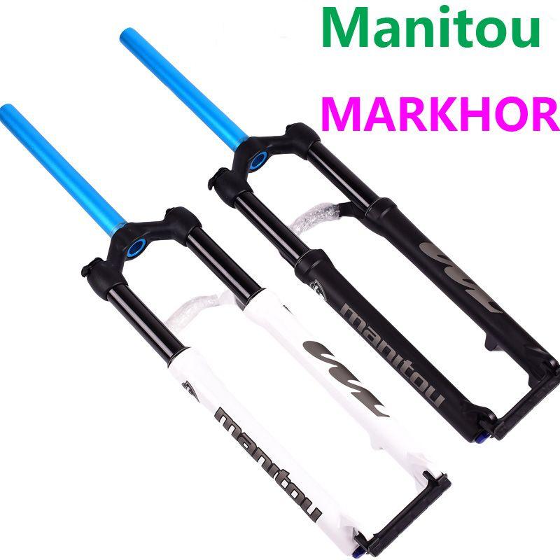 Bike Fork Manitou MARKHOR 26 27.5 29er Mountain MTB Bicycle Fork air Front Fork different to MRD Marvel Pro comp SR SUNTOUR 2018