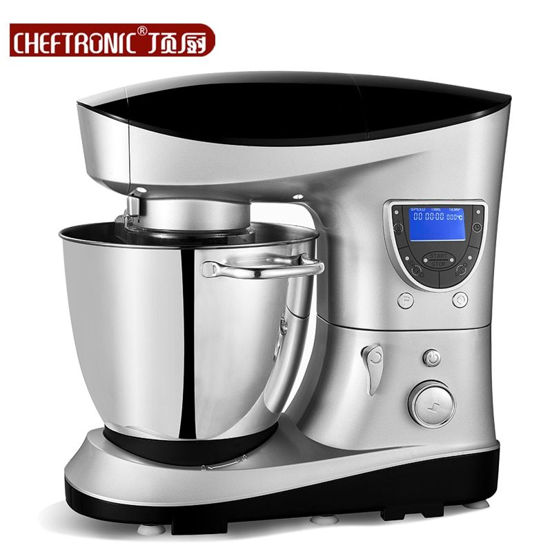 220V Multifunction LCD Professional Electric Milk/Cake Dough Mixer 7L Milkshake Beater Eggs Food Blender Auto Heating With Timer