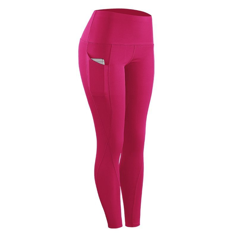 2018 New Female Running Sports Stretch Compression Pants Tights Leggings Fitness Quickly-Dry Pants for Women Solid High Waist