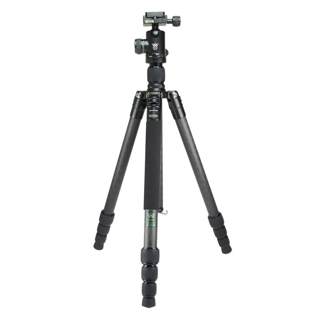 Matton W-324C+Q44 Professional Camera Tripod Quick Release Plate Hydraulic Damper Head Suit Tripe Tripodes Accessories