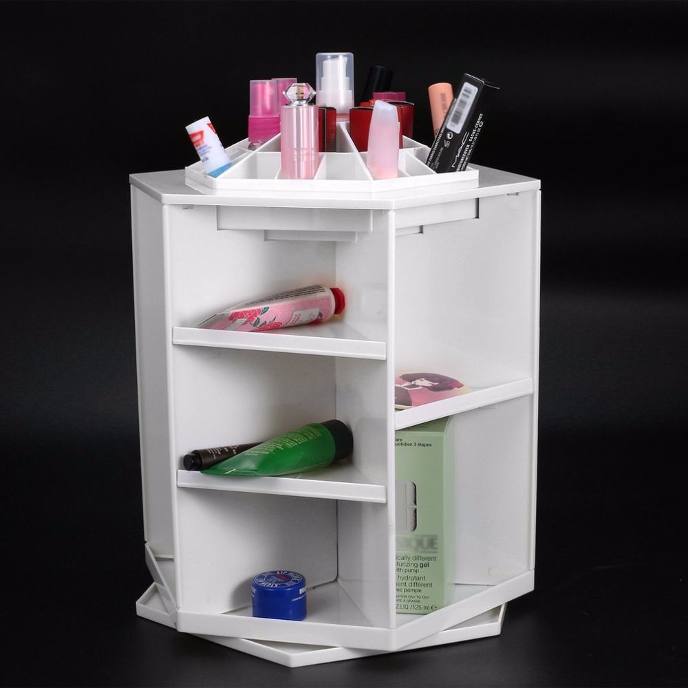 360 Degree Rotation Rotating Make up Organizer Cosmetic Display Brush Lipstick Storage Stand Cosmetic Accessories