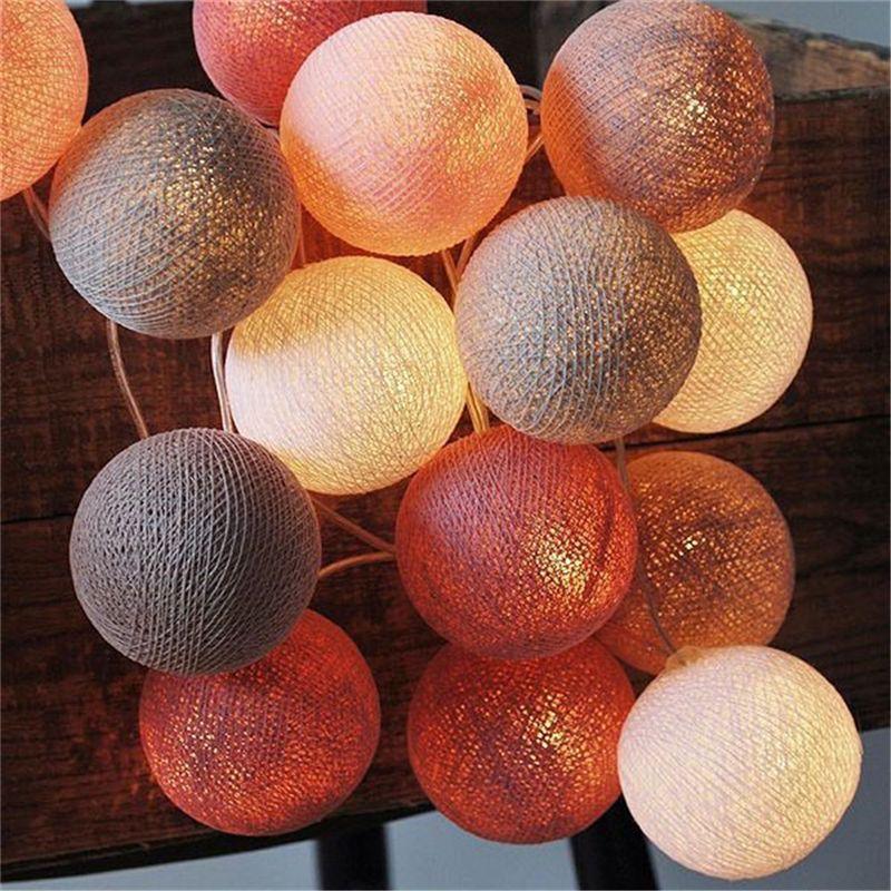 GOSUN Cotton Ball Light Christmas Balls Led String Lights Decoration Lighting Weeding Party Holiday Night Light Drop Shipping