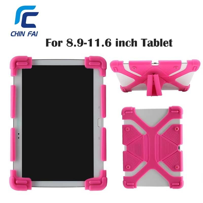Universal Funda de Silicona para 9.7 10 10.1 Pulgadas de la Tableta Cubierta para iPad Pro Aire Samsung Huawei Kindle Caso Suave A Prueba de Golpes con el Soporte