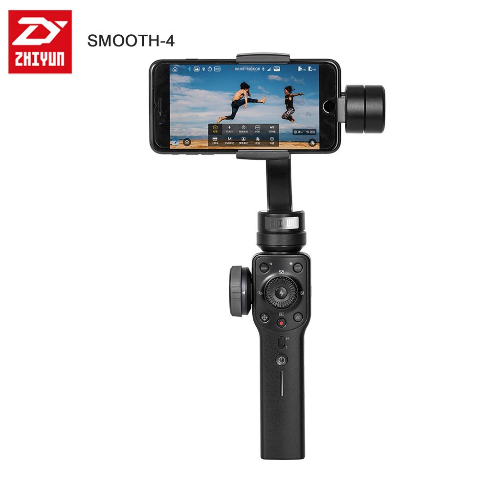 Zhiyun Smooth 4 3-Axis Handheld Gimbal Stabilizer for Smartphone action camera phone iPhone X Gopro Hero 5 4 sjcam YI