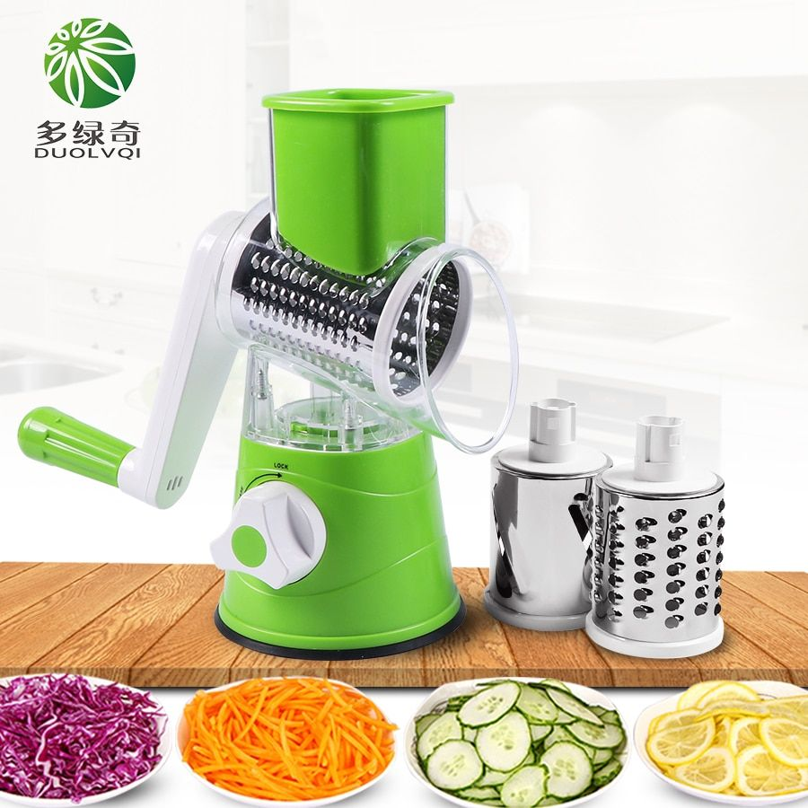 DUOLVQI Manual Vegetable Cutter Slicer Multifunctional Round Mandoline Slicer Potato Cheese Kitchen Gadgets Kitchen Accessories