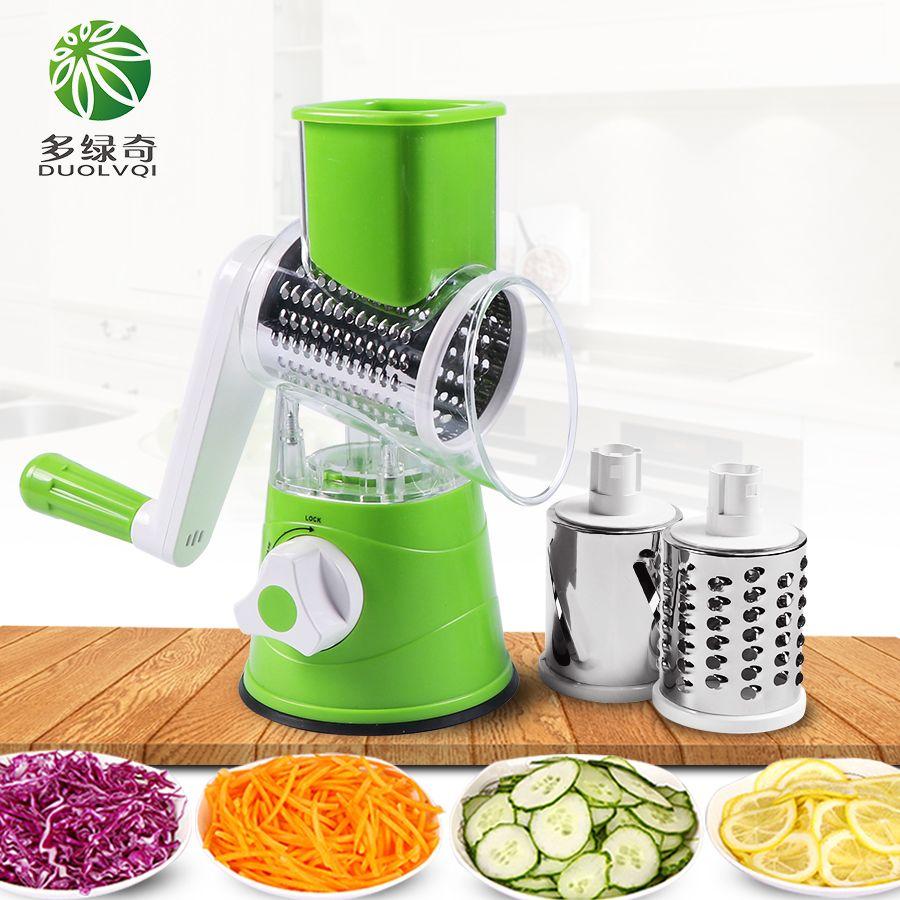 DUOLVQI coupe-légumes manuel trancheuse multifonctionnelle ronde Mandoline trancheuse pomme de terre fromage Gadgets de cuisine accessoires de cuisine