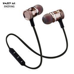 Snziyag LY-11 Nirkabel Bluetooth Stereo Sport Lari Magnet Earbud dengan Mikrofon Earphone Headset untuk iPhone