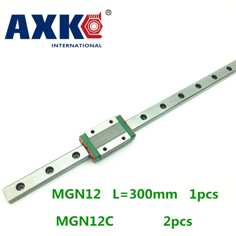 1pc 12mm width 300mm MGN12 linear guide rail +  2pc MGN MGN12C Blocks carriage CNC