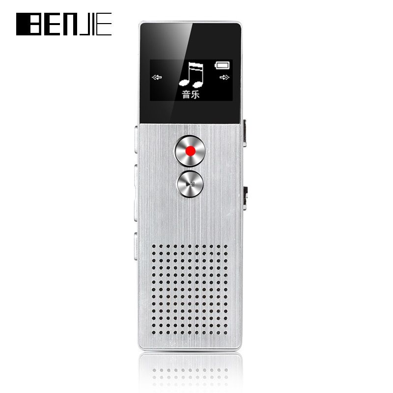 BENJIE C6 8 GB Digital Voice Recorder 15 mt Professionelle Audio Recorder Tragbare Ein Schlüssel Recorder Mit Lautsprecher 28 sprachen