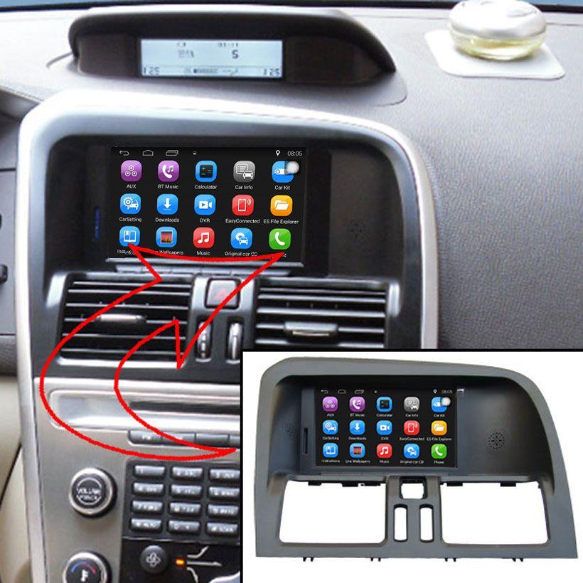 6,2 zoll Android Auto GPS-Navigation für VOLVO XC60 Auto Video Player WiFi Bluetooth Spiegel-link Verbesserte Ursprüngliche Auto radio