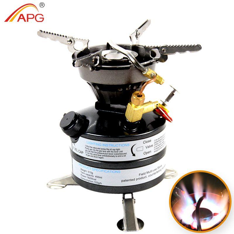 Mini poêles à essence de camping à carburant liquide APG et brûleurs portatifs de kérosène de poêle extérieur