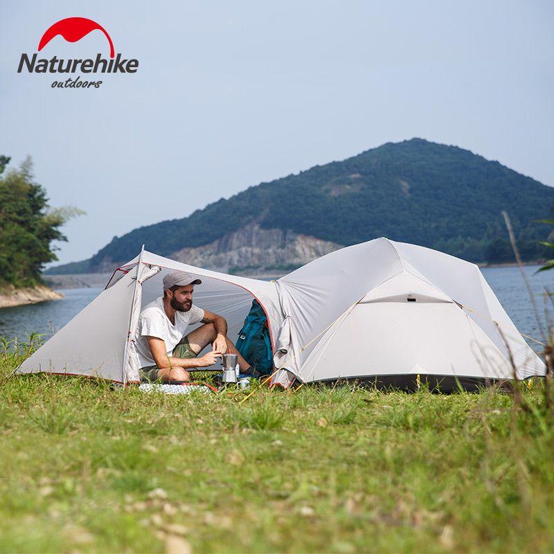 Naturehike neue Mongar 2 Person Ultraleicht Silikon Camping Zelt Im Freien Beste Wandern Jagd Bergsteigen Camp Zelt