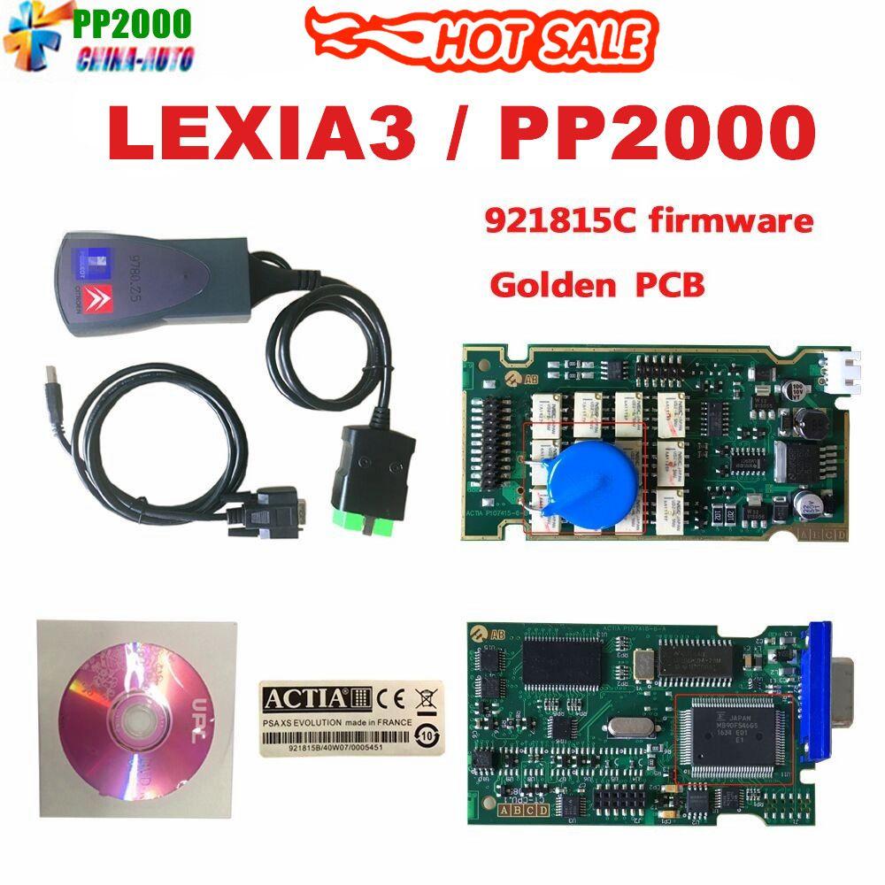 2019 Newest Lexia3 with Serial 921815C Firmware Golden PCB lexia PP2000 Lexia 3 Diagbox V7.83 Lexia-3 diagnostic tool