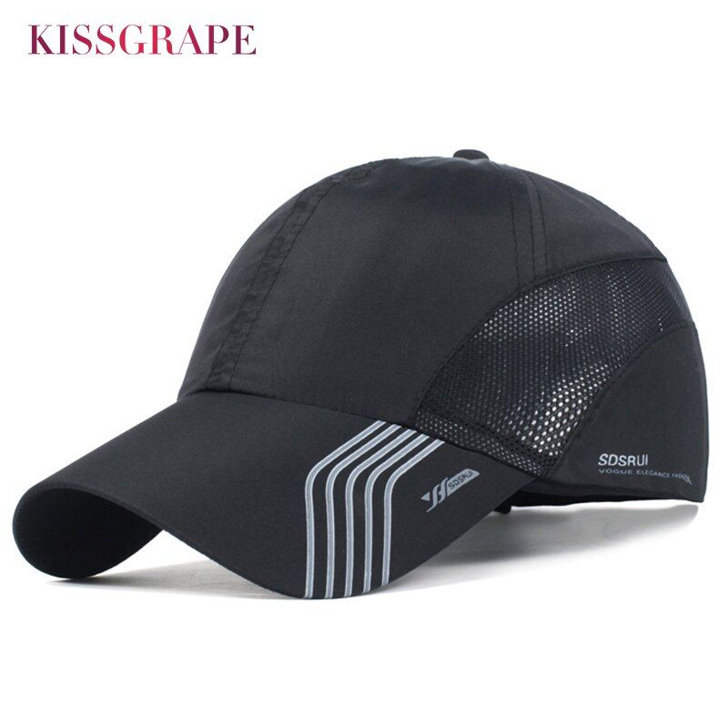 Été respirant soleil chapeaux pour hommes maille casquette de Baseball homme os Snapback chapeau mâle en plein air Sport course casquette camionneur papa noir chapeaux