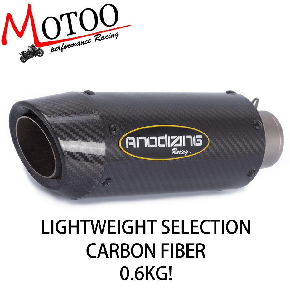High Quality Universal 51MM Motorcycle Titanium Alloy Exhaust Motorbike Carbon Fiber Muffler For KAWASAKI Z800 Z750