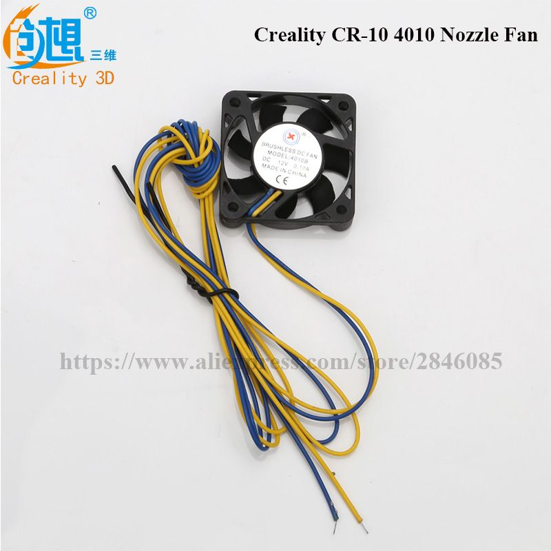 3d printers parts 12V Cooling Fan 40mmx40mmx10mm 4010 Oil bearing For 3D Printer CR-10