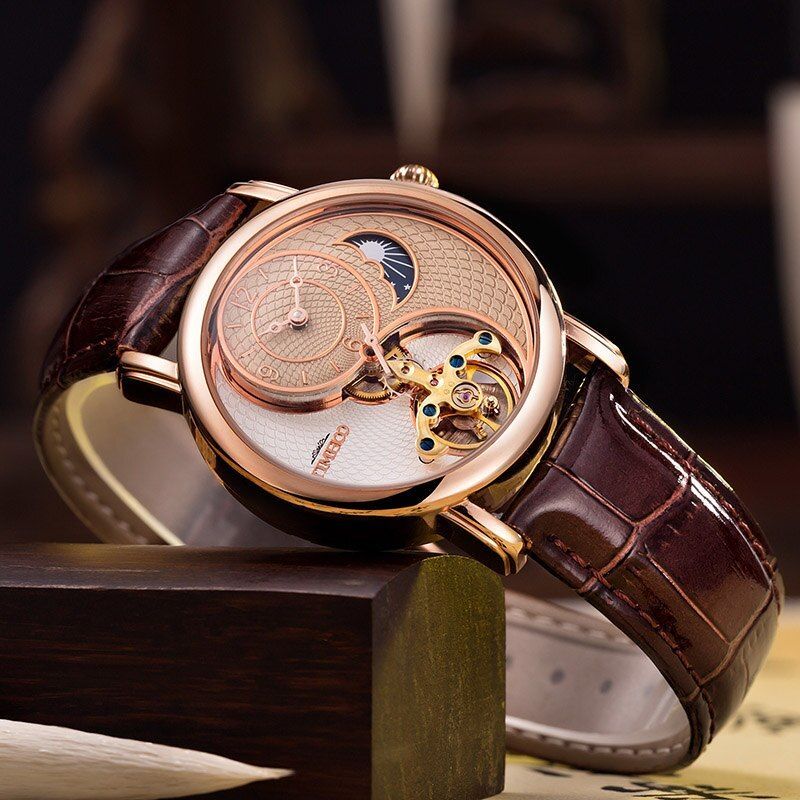 TEMPS 100 Mens Montres De Luxe Horloge Automatique Montre Mécanique Hommes D'affaires Étanche Sport Montre-Bracelet Relogio Masculino nouveau