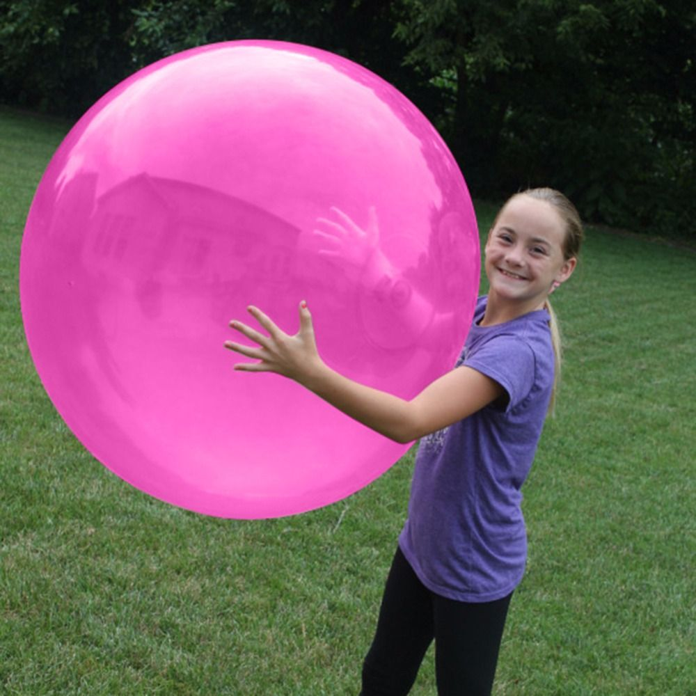 Inflatable Bubble Ball Large Transparent Latex Balls Kids Outdoor Play Toy Comfortable Firm Ball Children's Birthday Gift