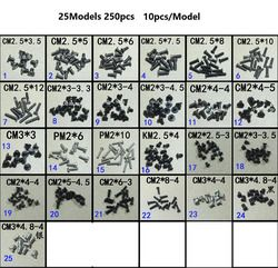 WZSM New 25 Models 250pcs/lot laptop screws for Asus for Acer for Toshiba for Dell for HP for LENOVO/SONY Computer repair screw