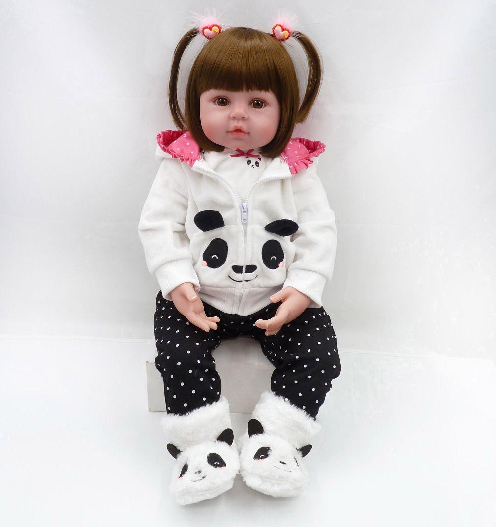bebe reborn doll 48cm Baby girl Dolls soft Silicone Boneca Reborn Brinquedos Bonecas children's day gifts toys bed time plamates