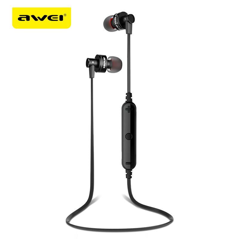 AWEI a990bl Спорт Беспроводной Bluetooth наушники стерео наушники С микрофоном гарнитуры sweatproof для телефона bluetooth наушники