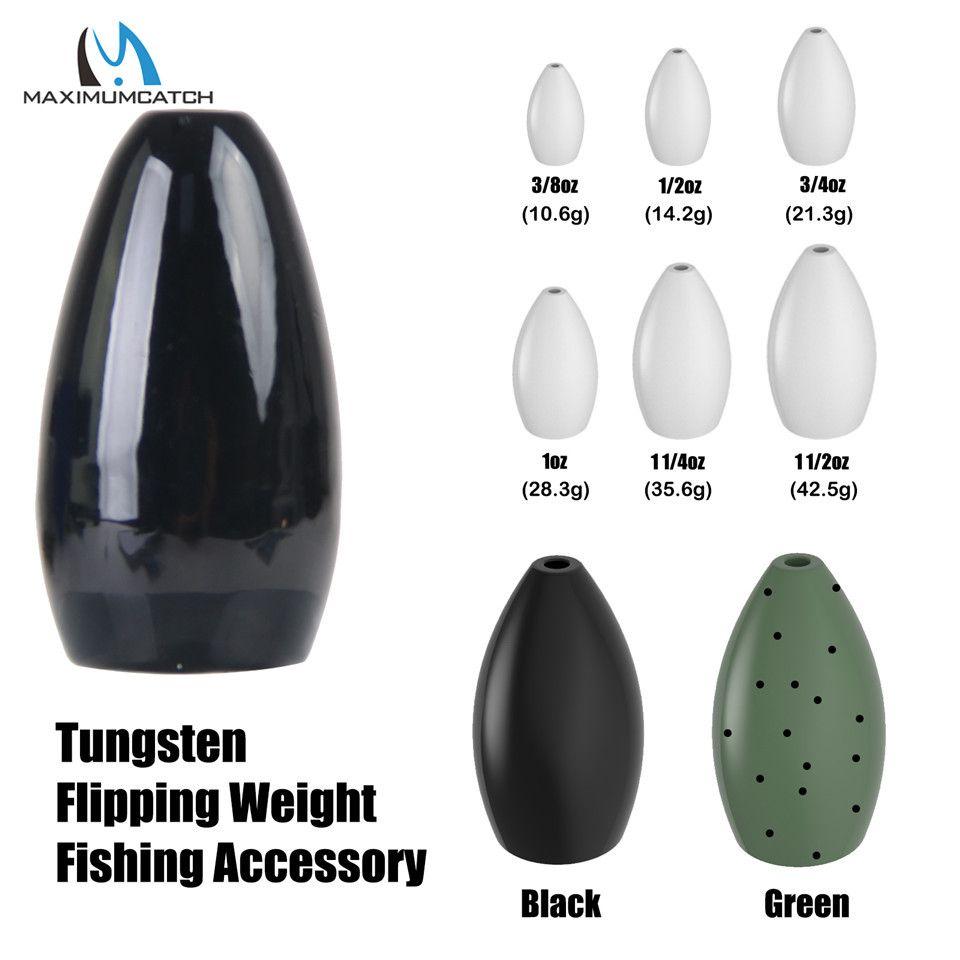 Maximumcatch 1-4 pcs/lot 1/8-3/2 OZ tungstène balle ver poids pêche pesée leurre accessoire de pêche