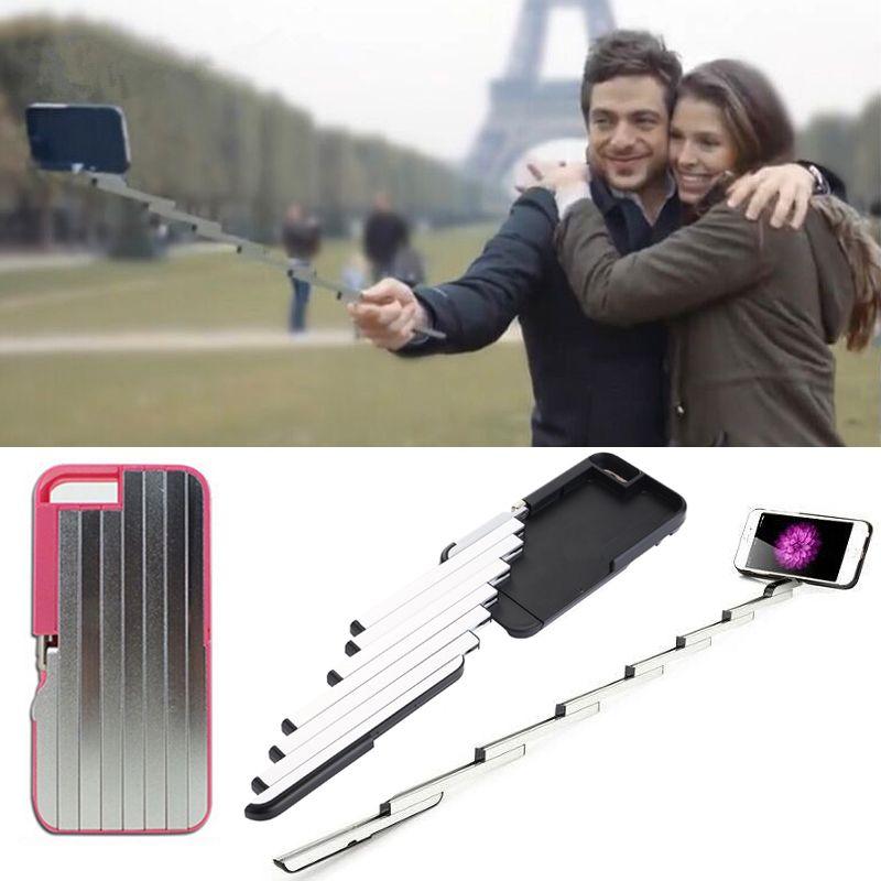 SYCASE Nouveau PC Pliable En Aluminium pour iPhone 6 6 s Plus 7 8 Plus Selfie Bâtons Boitier Bluetooth Multifonctionnel auto-adhésif