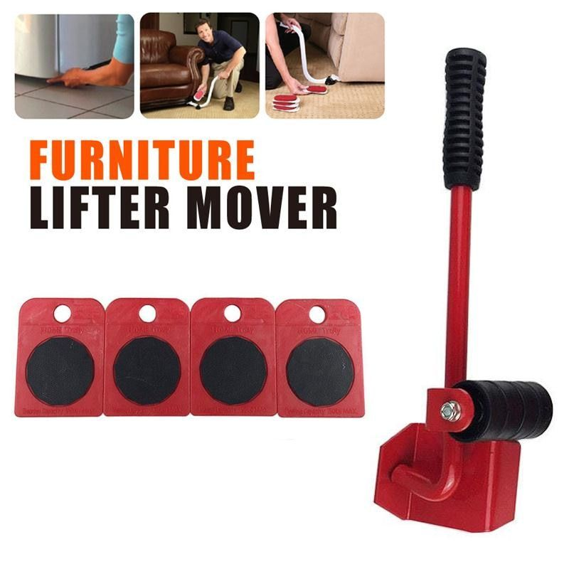 Furniture Transport Set Lift System One Moves Furniture Lifter and 4 Furniture <font><b>Moving</b></font> sliders for Heavy Furniture & Appliance