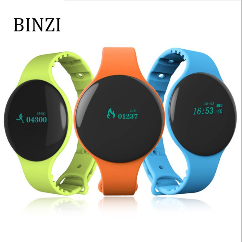 BINZI Smart Digital Watch Men Beyond Ultra Slim Round Acrylic Waterproof Altimeter Sport Watches Women Relogio Masculino Female