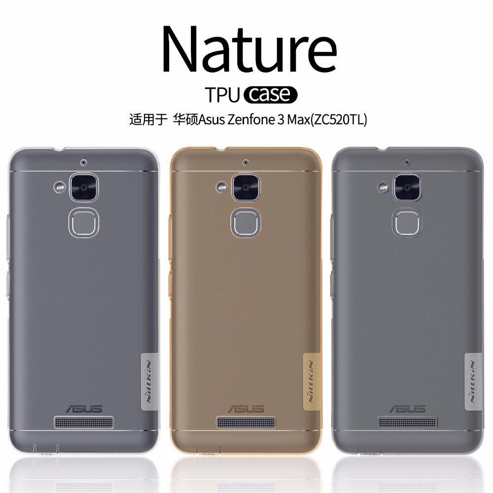 Asus Zenfone 3 Max ZC520TL cas NILLKIN Nature clair TPU Transparent doux cas de couverture arrière pour Asus Zenfone 3 Max ZC520TL