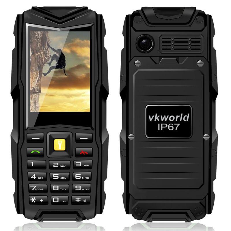 original VKworld stone V3 IP67 waterproof Mobile phone 5200mAh battery Wireless FM shockproof Russian keyboard cell phones PK A9