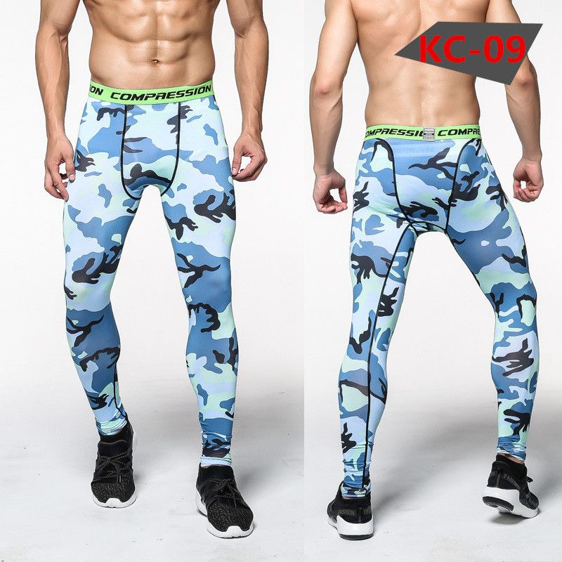 New Winter Thermal Fleece Men's Compression Tights Clothing Base Layer Fitness Pants Leggings Tight Pants