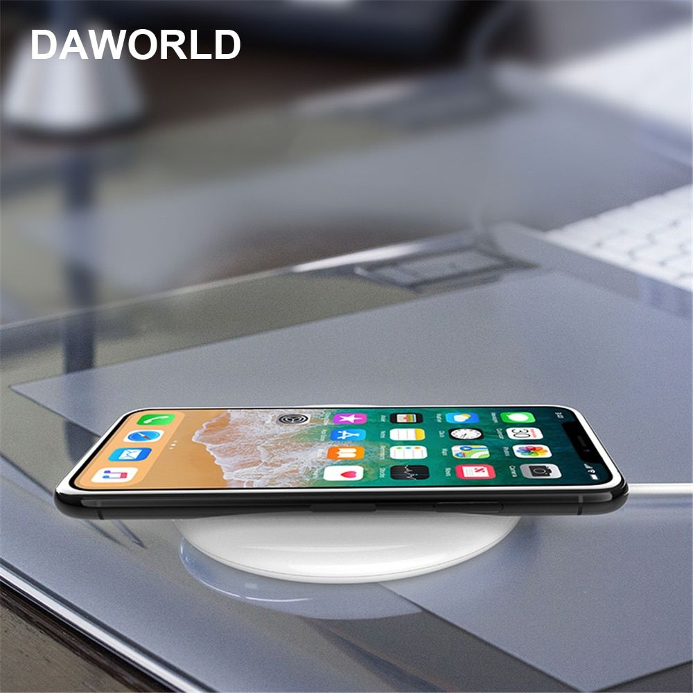 DAWORLD 10W Qi Wireless Charger Fast Wireless Charging pad for iphone8/x plus samsung