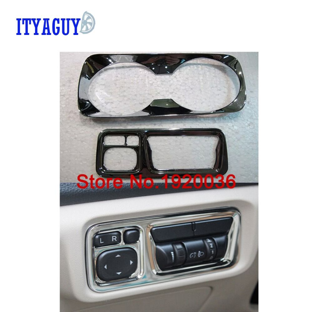 Car styling inner headlight adjustment cup holder box trim cup holder decorative cover trims For TIGGO 5 Middle control box trim