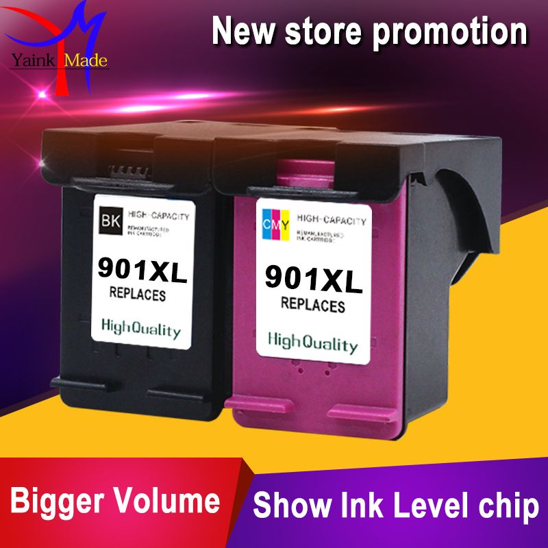 2PK Reman Ink Cartridge for HP 901xl for HP 901 XL for HP901 for Officejet 4500 J4500 J4540 J4550 J4580 J4640 J4680c printers