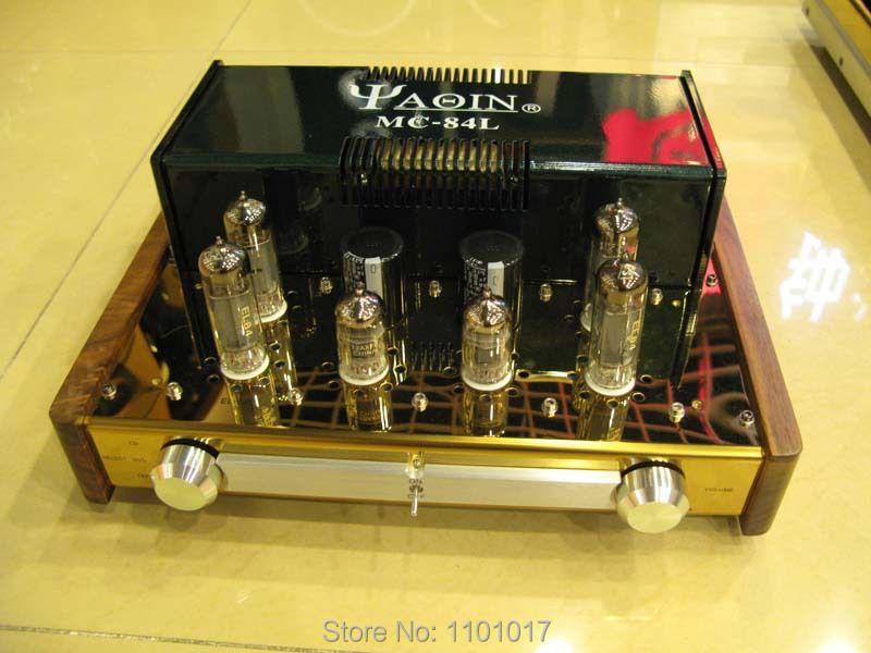 YAQIN MC-84L EL84 Push-Pull Rohr Verstärker HIFI EXQUIS Klasse A Integrierte lampe amp kopfhörer ausgang