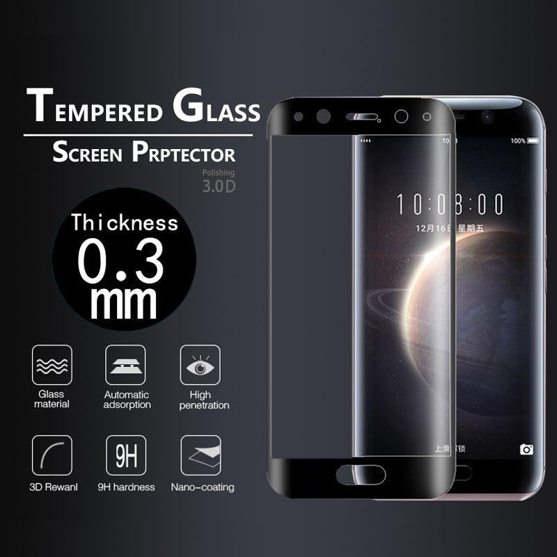Volldeckung 3D Gekrümmten rand gehärtetem glas film Für Huawei Ehre magie 5,09 glas film Für huawei NTS-AL00 displayschutzfolie