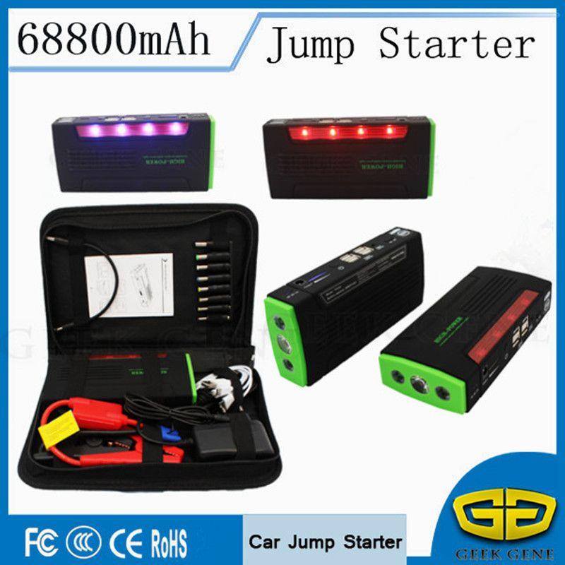 Auto Starthilfe 600A Tragbare Auto-ladegerät Für Autobatterie 68800 mAh Startvorrichtung Heller Energienbank Diesel Benzin Auto Starter