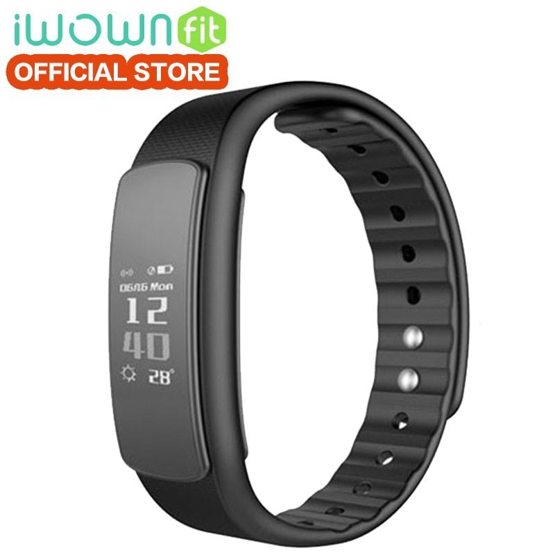 IWOWNfit I6 HR Smart Band Passometer Heartrate Monitor Wristband Bluetooth4.0 Smart Bracelet Fitness Tracker for IOS Android.