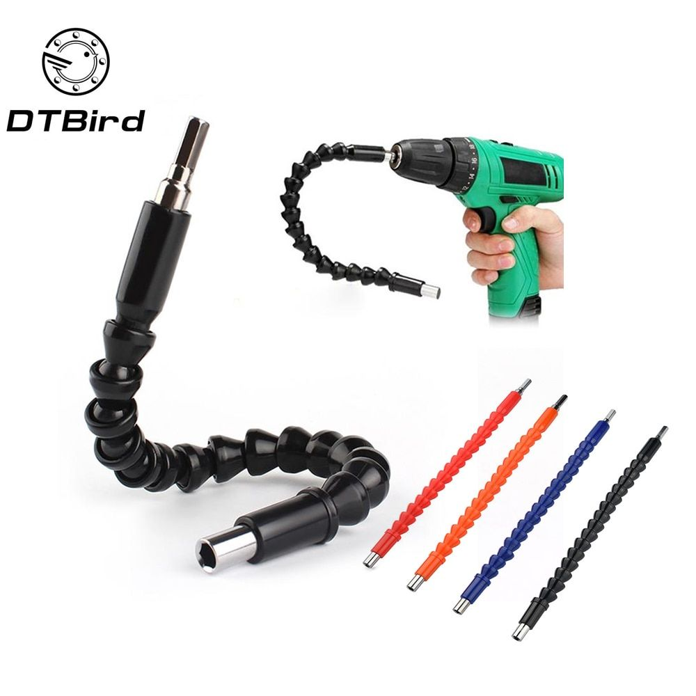 Car Repair Tools Black 295mm Flexible Shaft Bits Extention Screwdriver Holder Connect Link Electronics Drill 1/4 Hex Shank DT6
