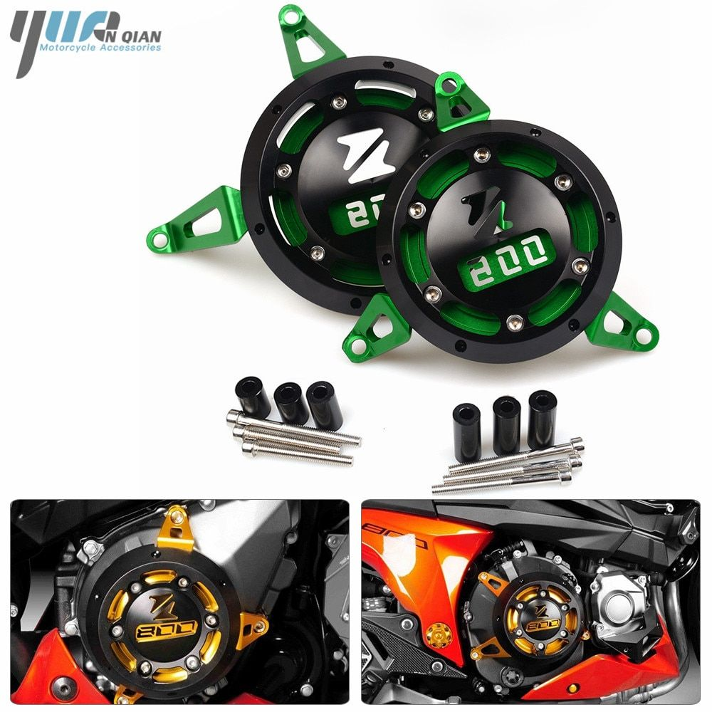 YUANQIAN Moto Engine Stator Cover Moto CNC Engine Protective Cover Left & Right Side Protector For KAWASAKI Z800 Z 800 2013-2017