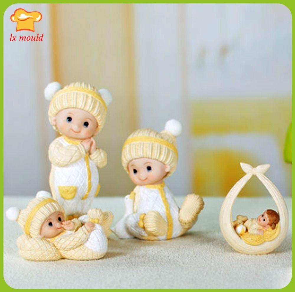 LXYY original cartoon yellow cute decorative dolls creative wedding soap mold  doll silicone candle mold