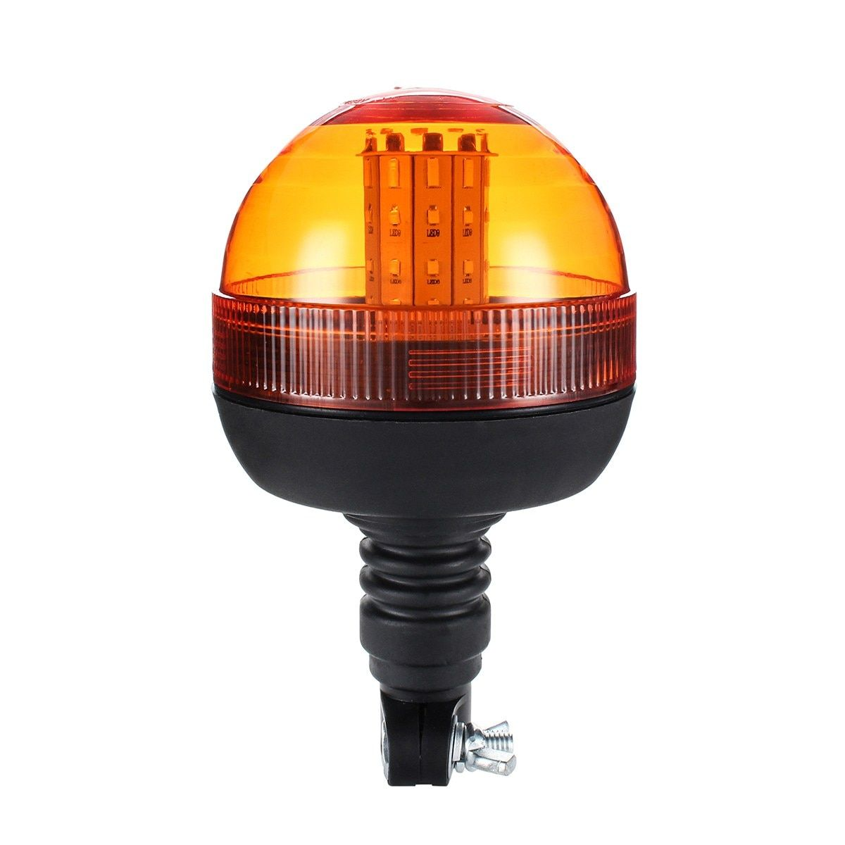 Safurance LED Rotating Flashing Amber Beacon Flexible Tractor Warning Light 12V-24V Roadway Safety