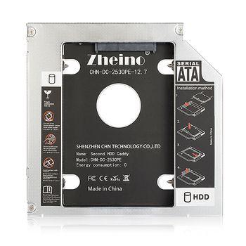 Zheino 12.7mm Portable 2e Sata À Sata HDD Cadre Caddy Bay Adaptateur pour Dell pour HP CD/DVD-ROM Optique Dur Drive