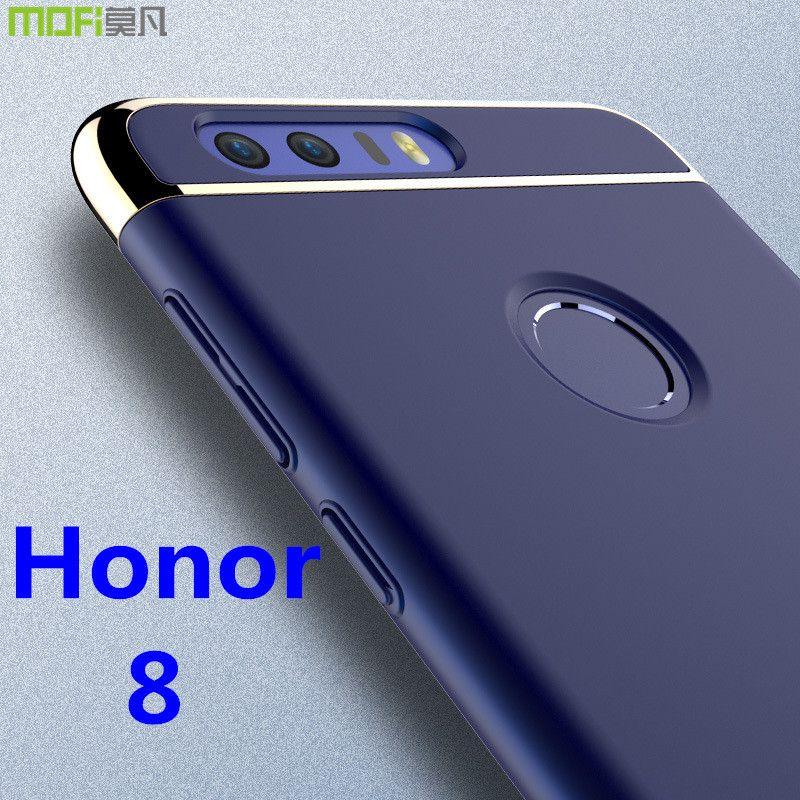 Huawei honneur 8 cas MOFi d'origine Huawei honneur 8 couverture arrière cas dur de luxe capa coque mat accessoires marine bleu 5.2