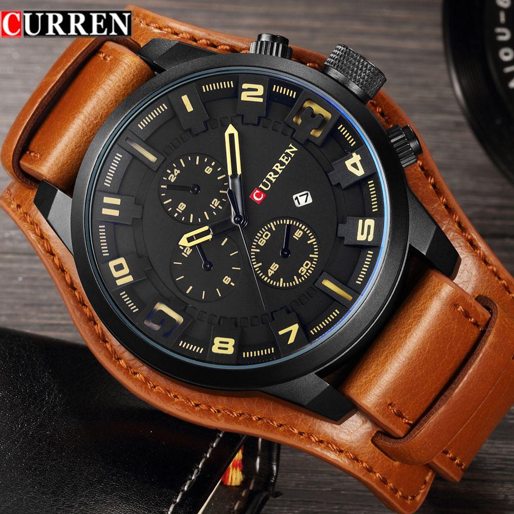 Curren Hommes Montres Top Marque De Luxe Quartz Montre Homme Militaire Sport Dropship Horloge Hodinky Relojes Hombre Relogio Masculino 8225
